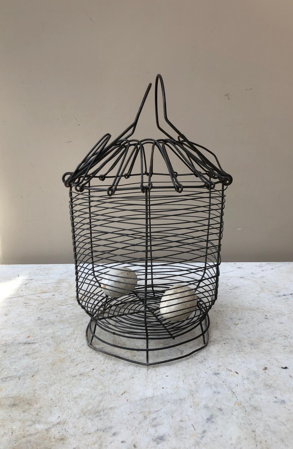Early 20th Century Wire Work Egg Basket - Salad Shaker