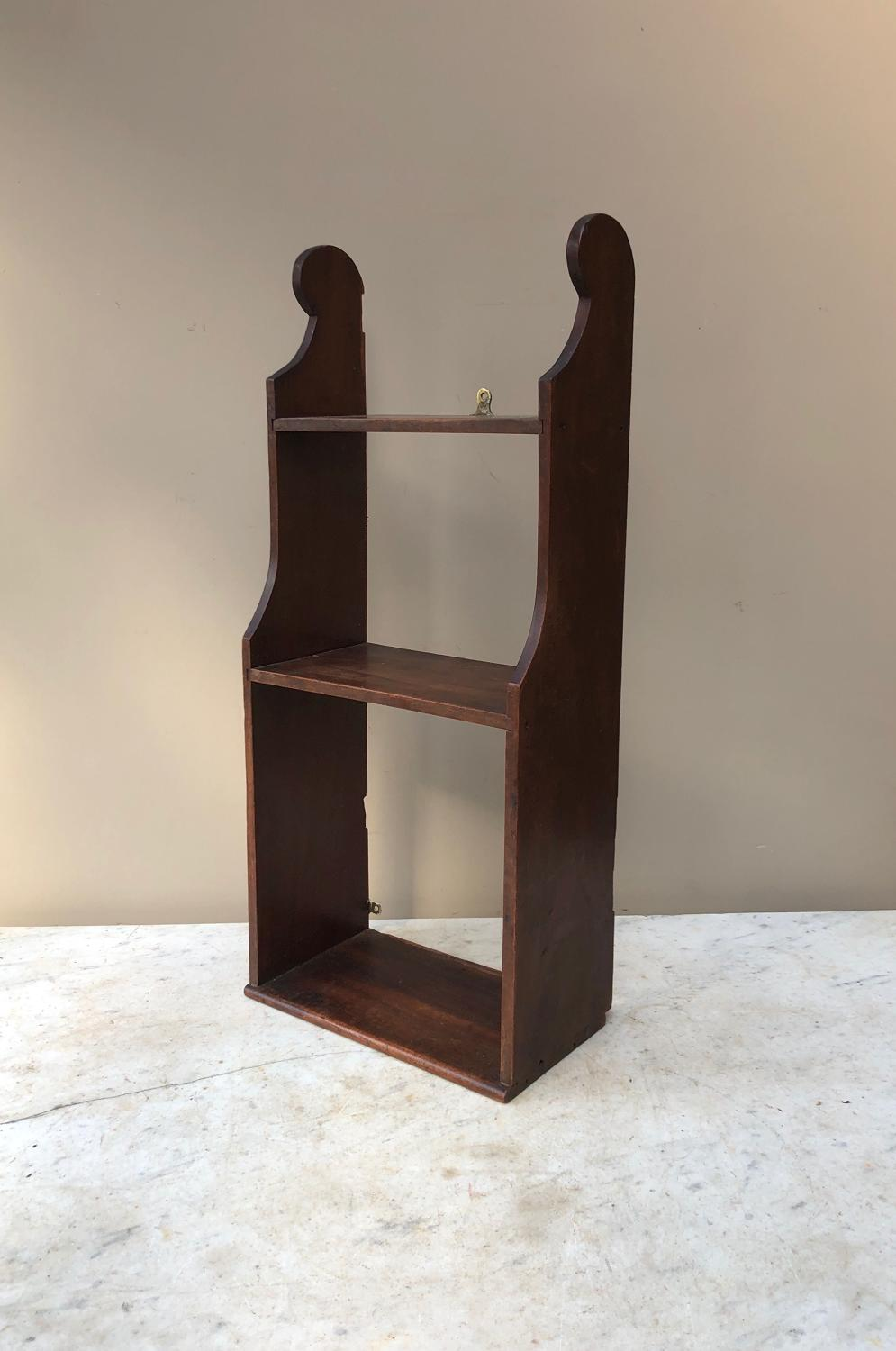 Late Victorian Mahogany Small Handy Wall Shelf