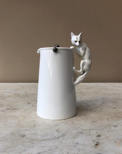 Rare Early 20thC White Fox That Got The Cream Jug - Copeland Spode