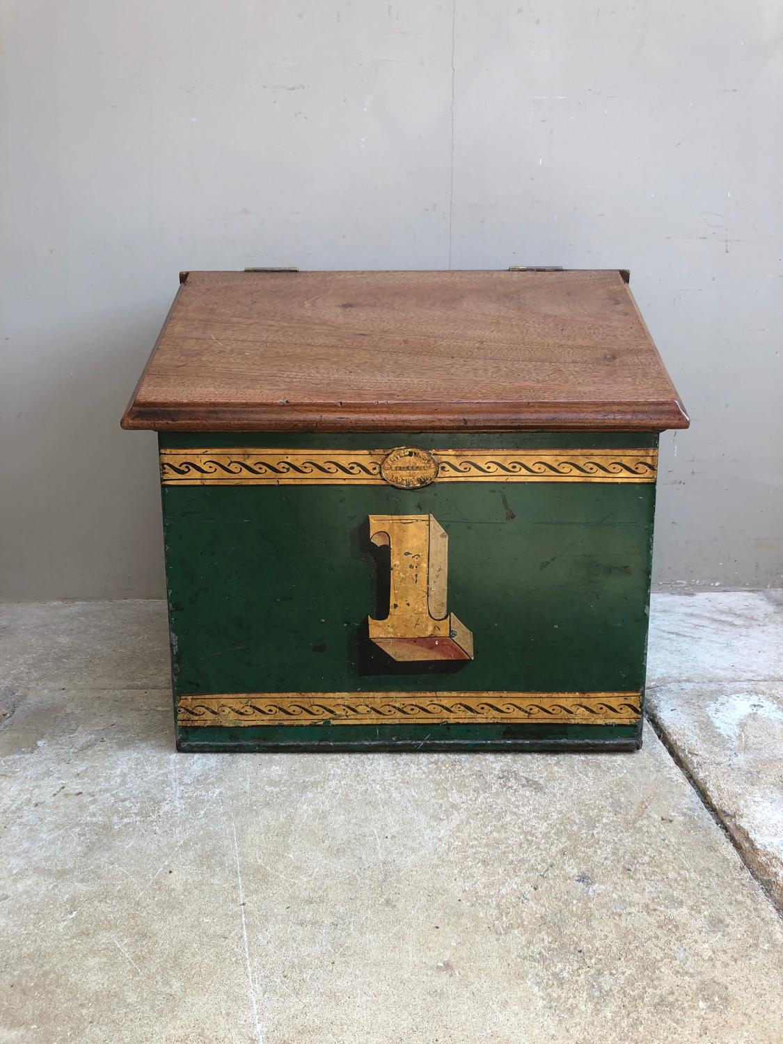 Victorian Shops Toleware Tea Bin - No 1 - Superb Condition