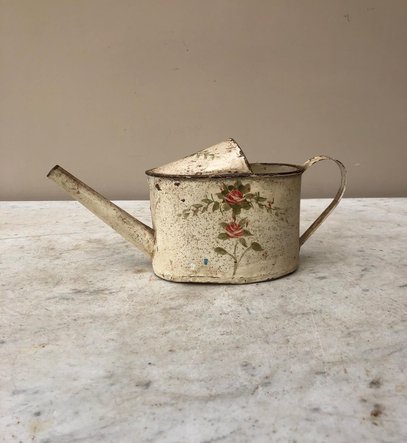 Edwardian Small Toleware House Plant Watering Can