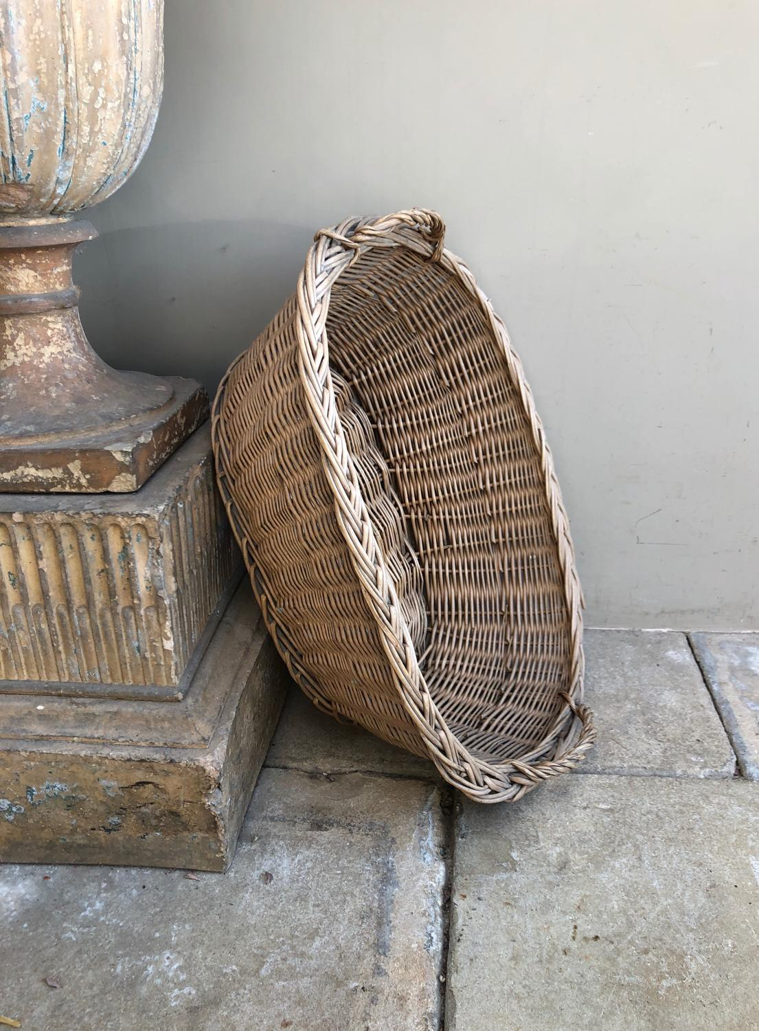 Early 20th Century Laundry Basket - Side Carrying Handles