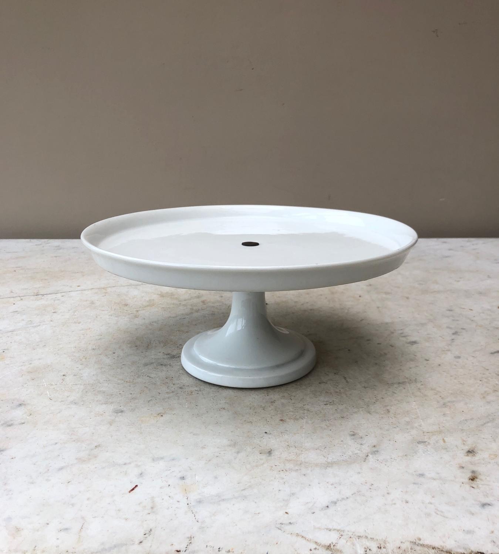 Edwardian White Pedestal Cake Stand