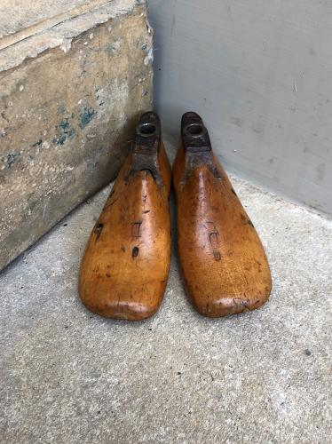 Early 20th Century Matched Pair of Childs Treen Shoe Lasts