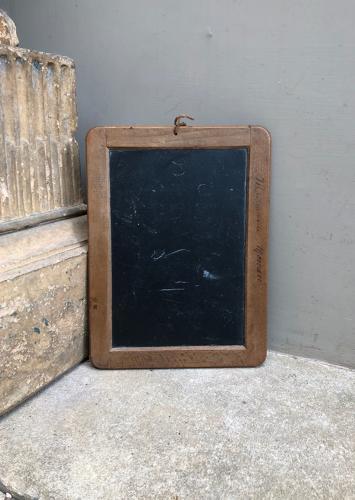 Late Victorian Childs School Slate - Good Memo Board