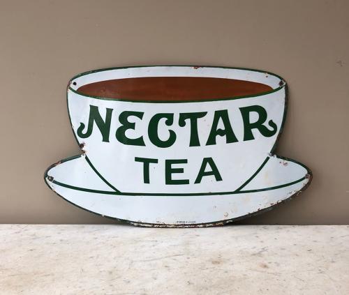 Early 20th Century Enamel Advertising Sign - Nectar Tea