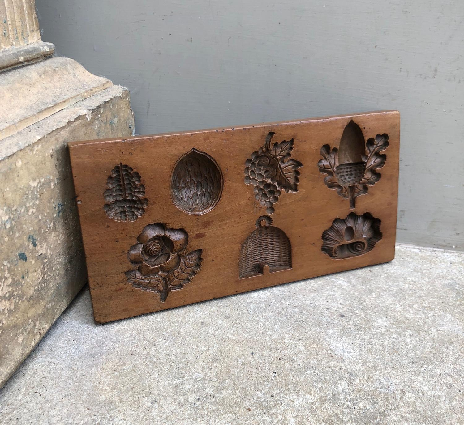 Superb Victorian Carved Fruitwood Confectionary Moulds