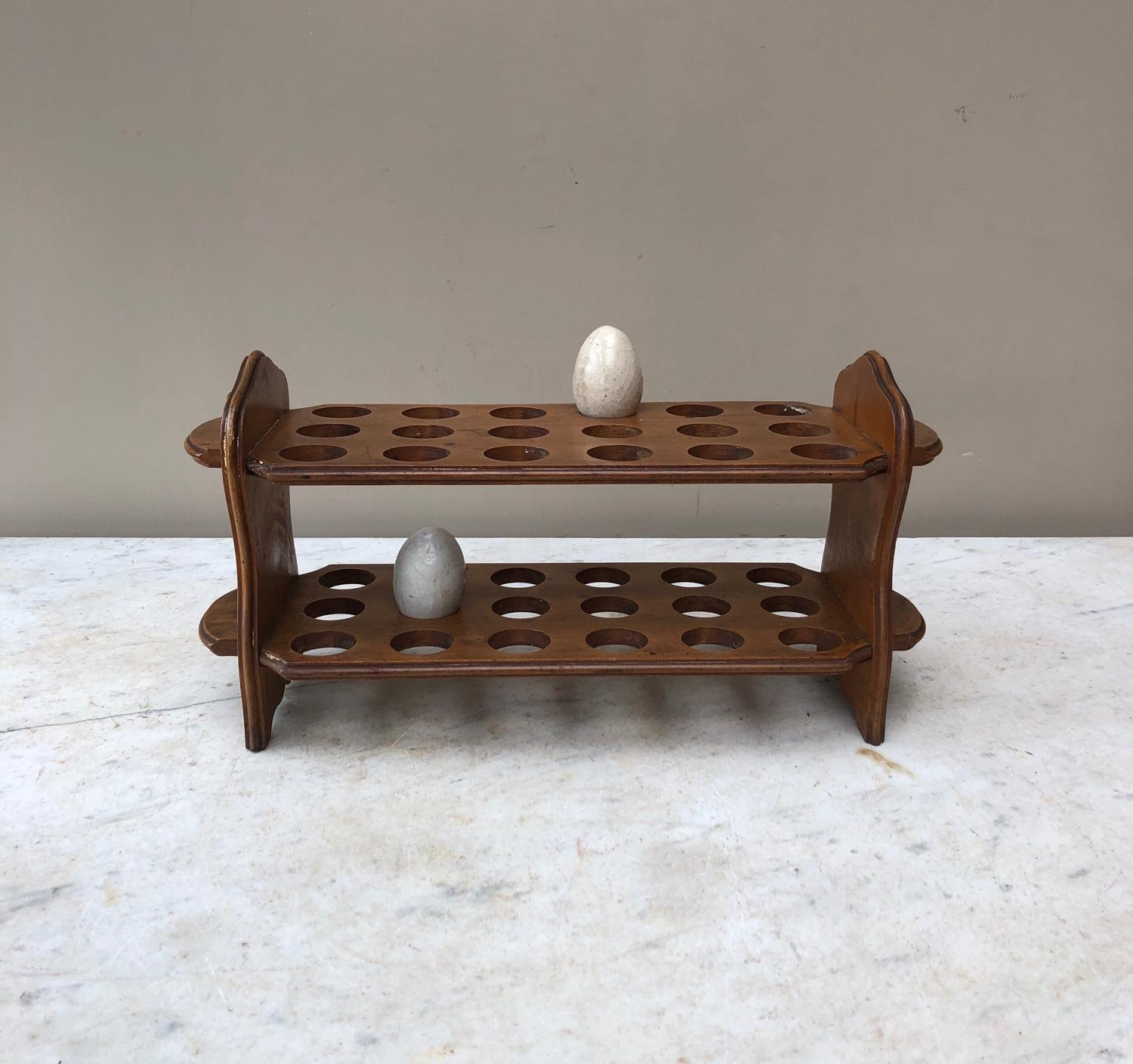 Early 20th Century Large Two Tier Egg Rack for Three Dozen (36) Eggs