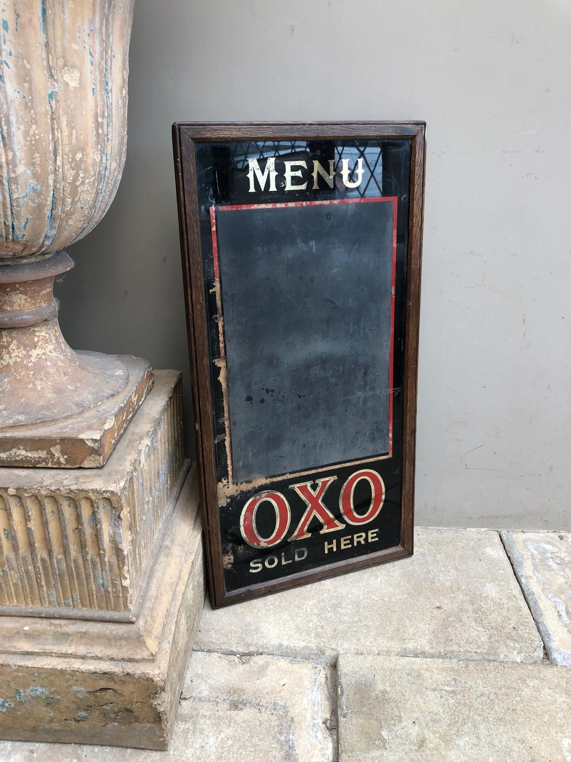Rare Edwardian Shops Advertising Sign, Menu, Blackboard - OXO
