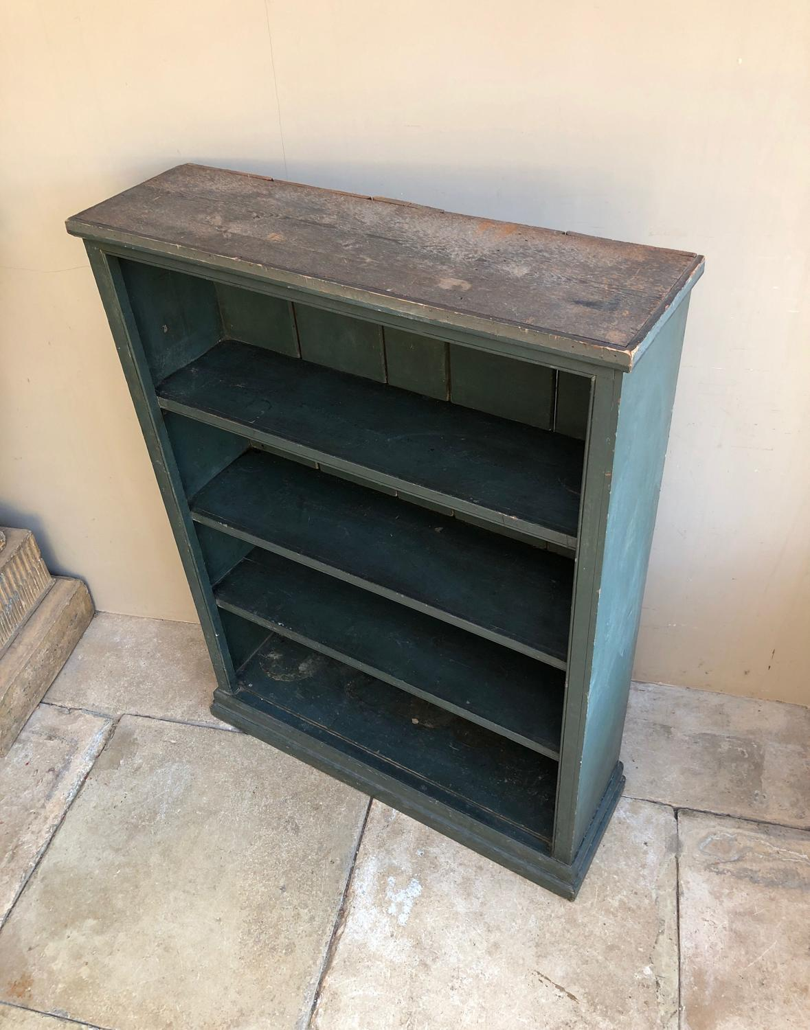 Early 20th Century Pine Shelves in Early Green Paint