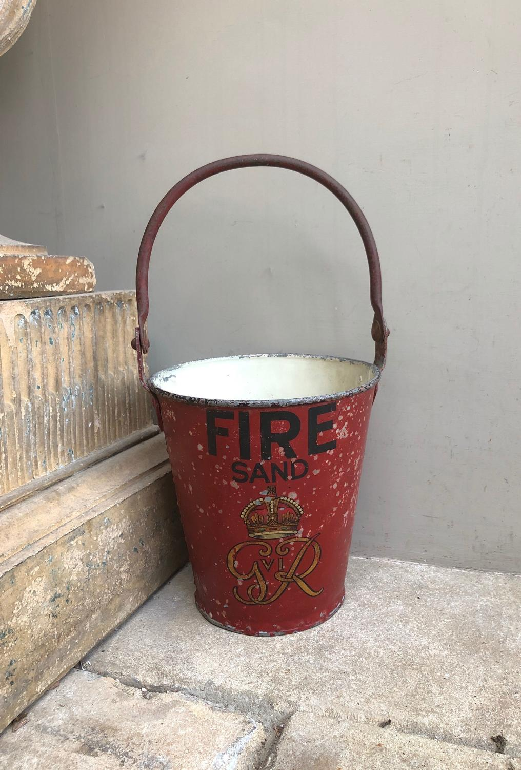 1930s Superb Original Condition Fire Bucket - George VI
