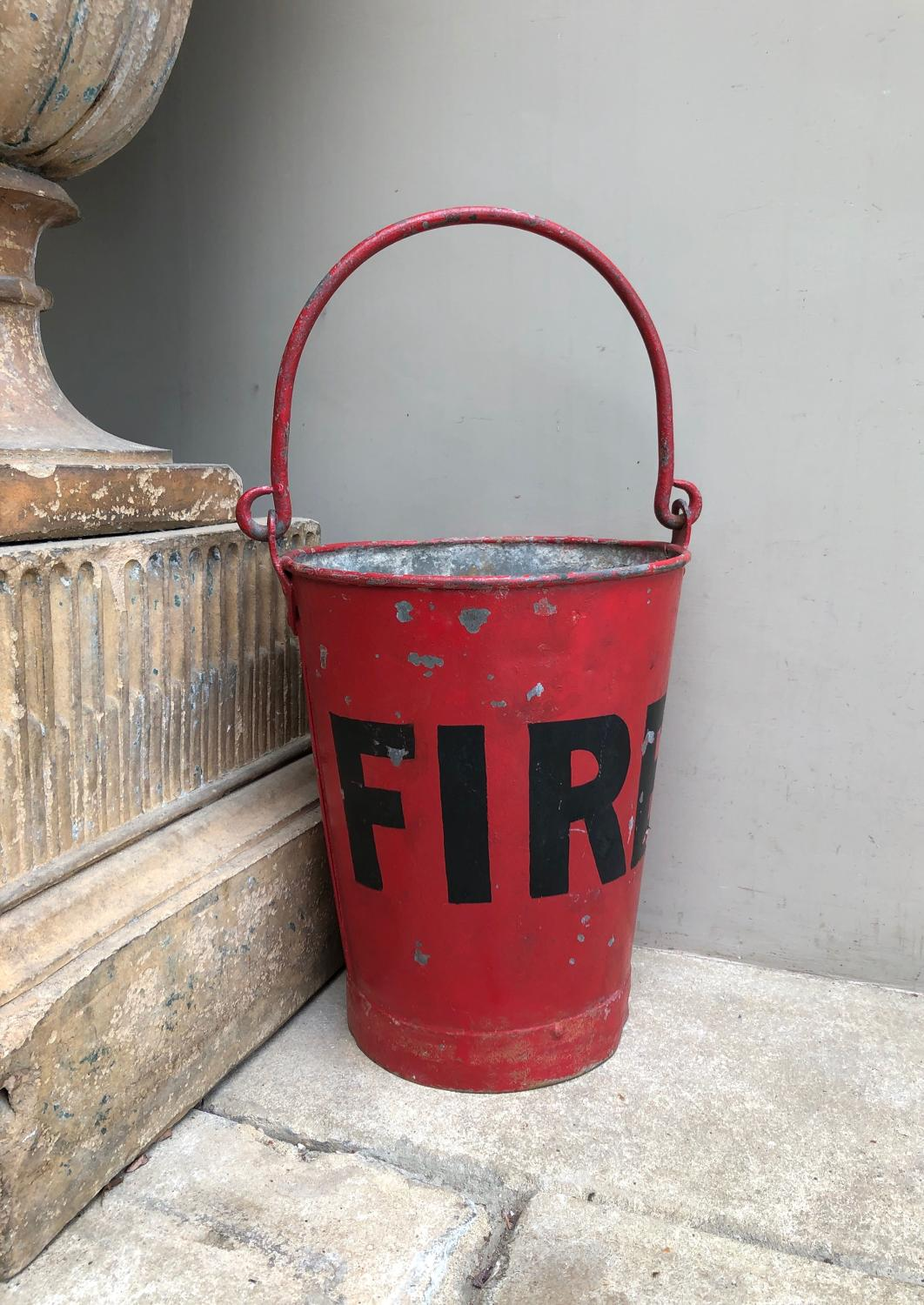 Early 20thC Merryweather London Fire Bucket - Great Original Paint