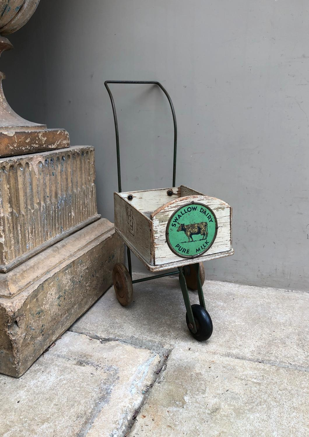 1940s Display Milk Cart - Swallow Dairy Pure Milk