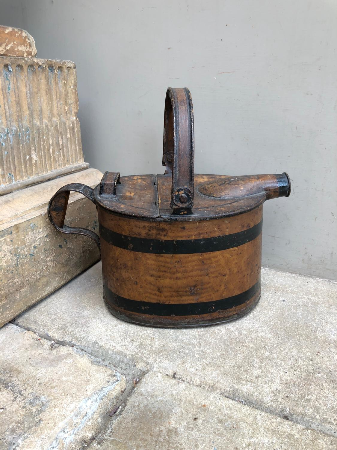 Unusual Victorian Toleware Hot Water or Watering Can