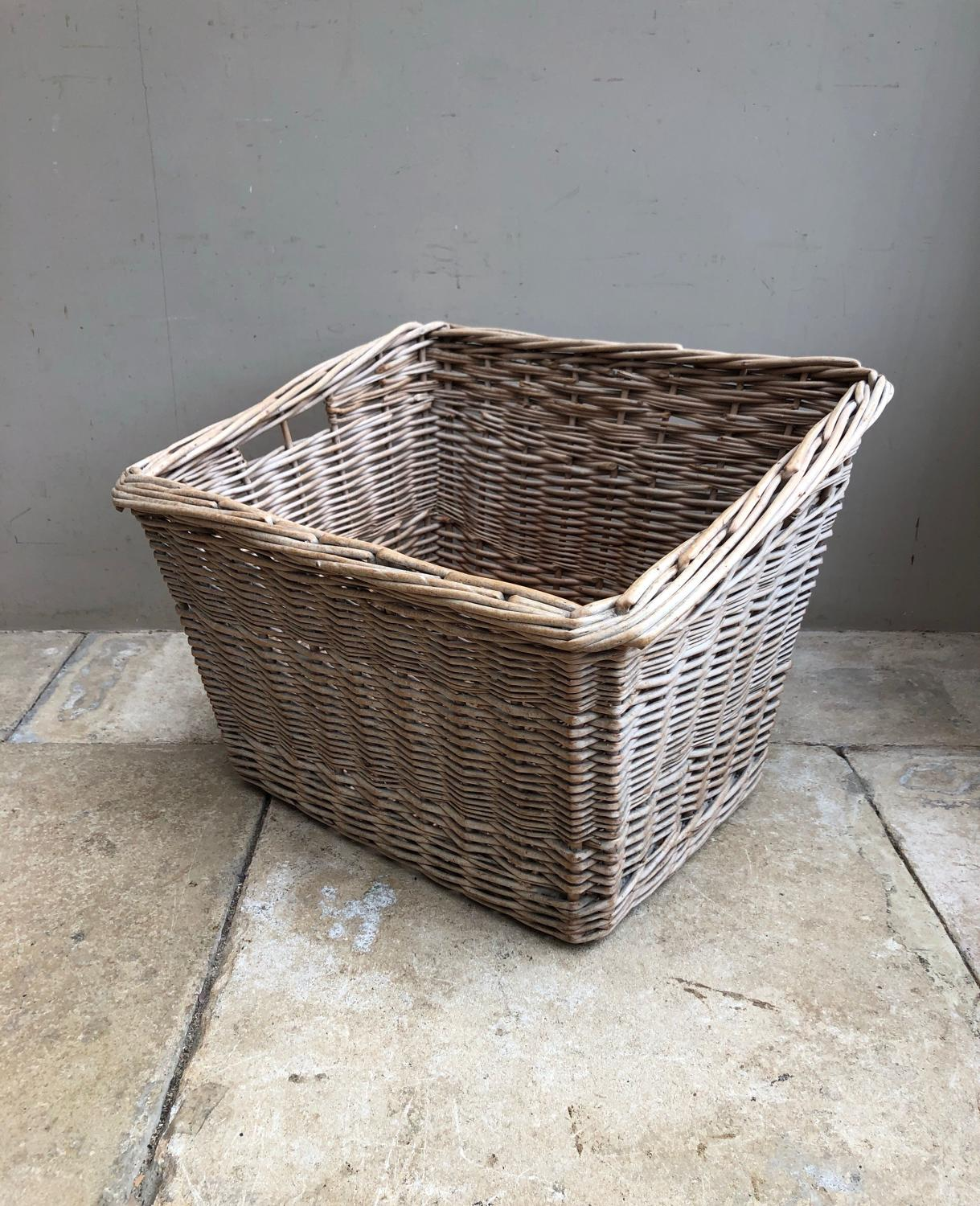 Large Early 20th Century Basket - Great for Logs or Storage