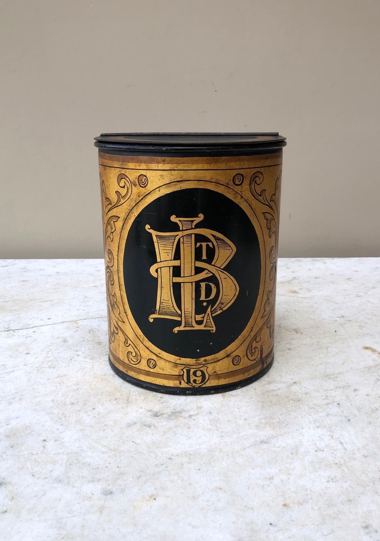 Wonderful Condition Victorian Toleware Tea Tin No.19 - B Ltd