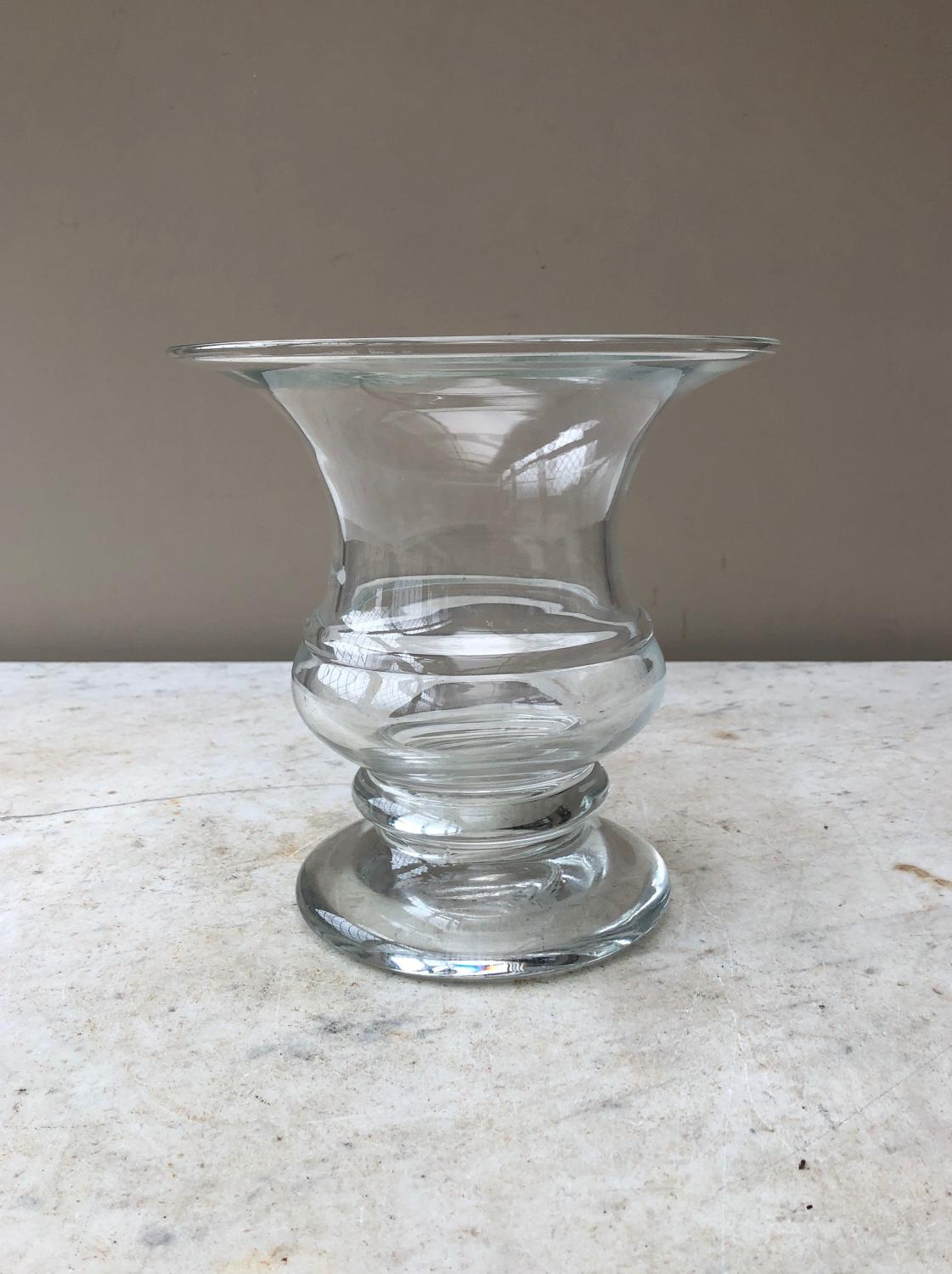 Early 20th Century Heavy Glass Display Bowl