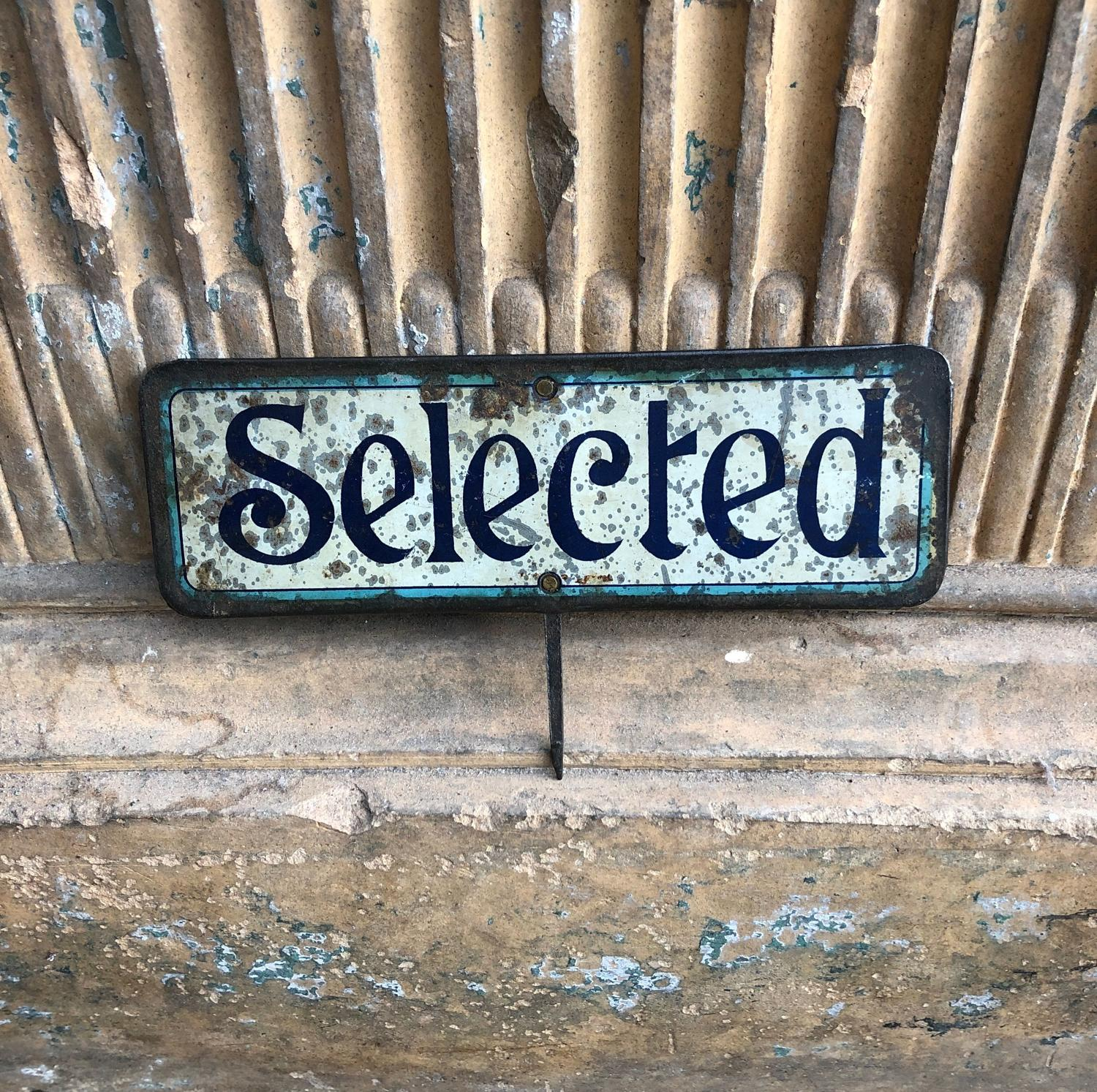 Edwardian Grocers Advertising Sign - Selected