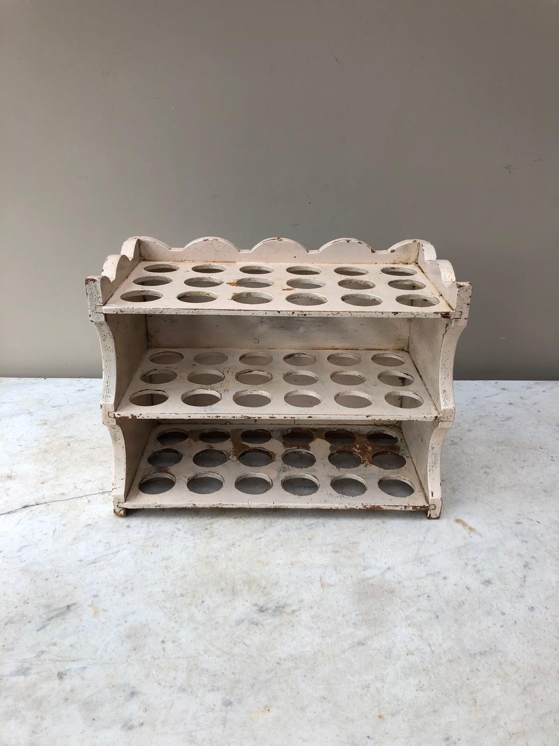 Early 20thC Country House Three Tier Egg Rack - Holds 54 Eggs