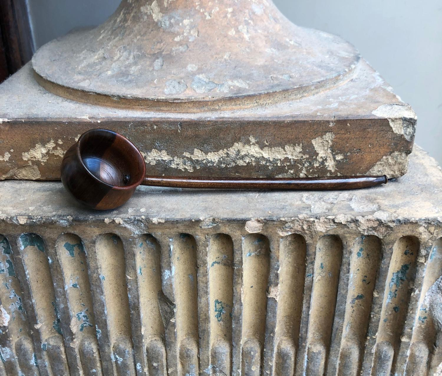 Victorian Lignum Treen Toddy Ladle in Lovely Condition