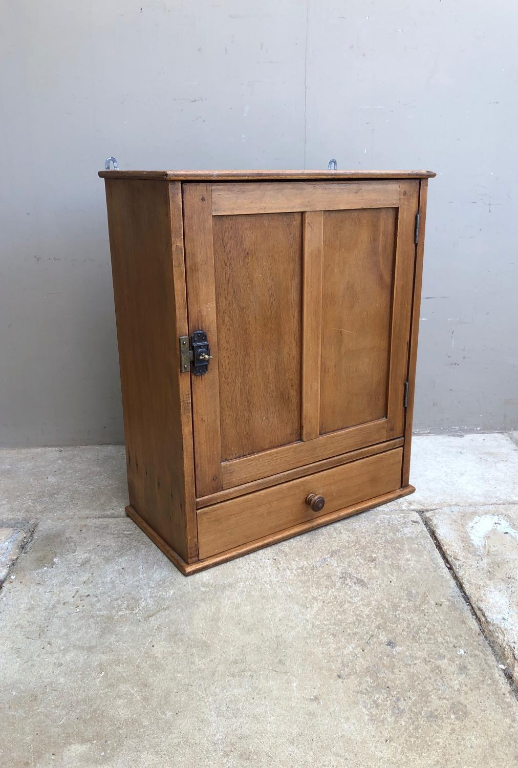 Early 20th Century Wall Cupboard with Handy Drawer c.1920