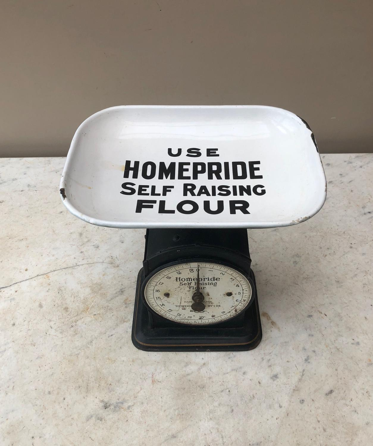 Early 20th Century Kitchen Advertising Weighing Scales-Homepride Flour