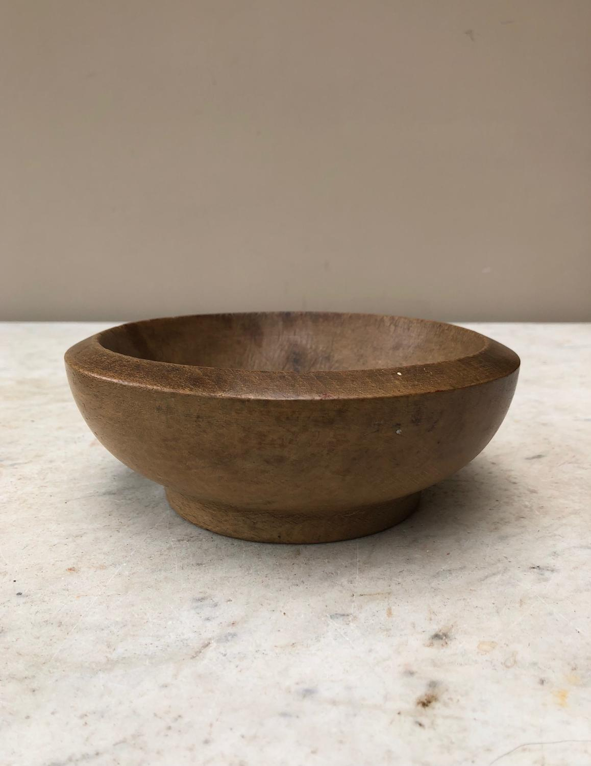 Victorian Treen Herb Chopping Bowl - Handy Small Bowl.