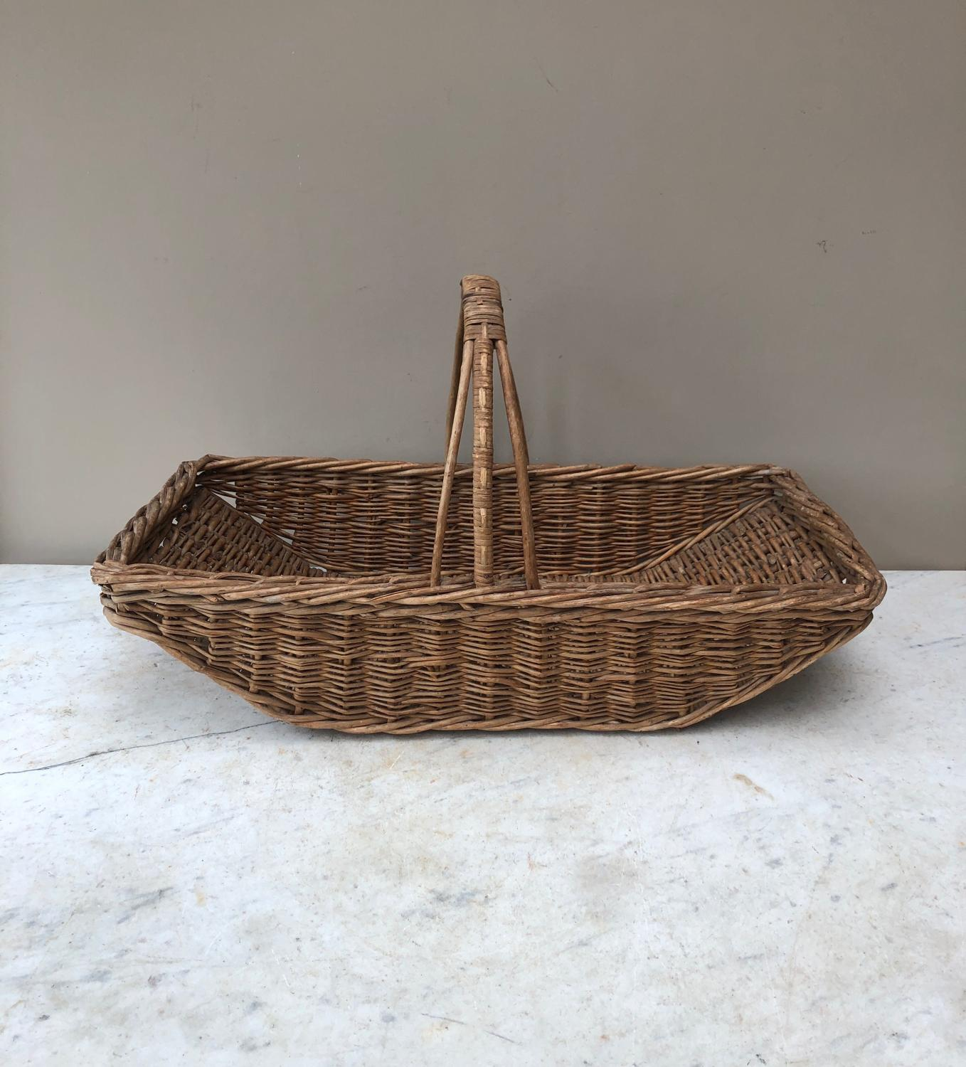 Large Antique Garden Flower Trug Basket c.1930/40