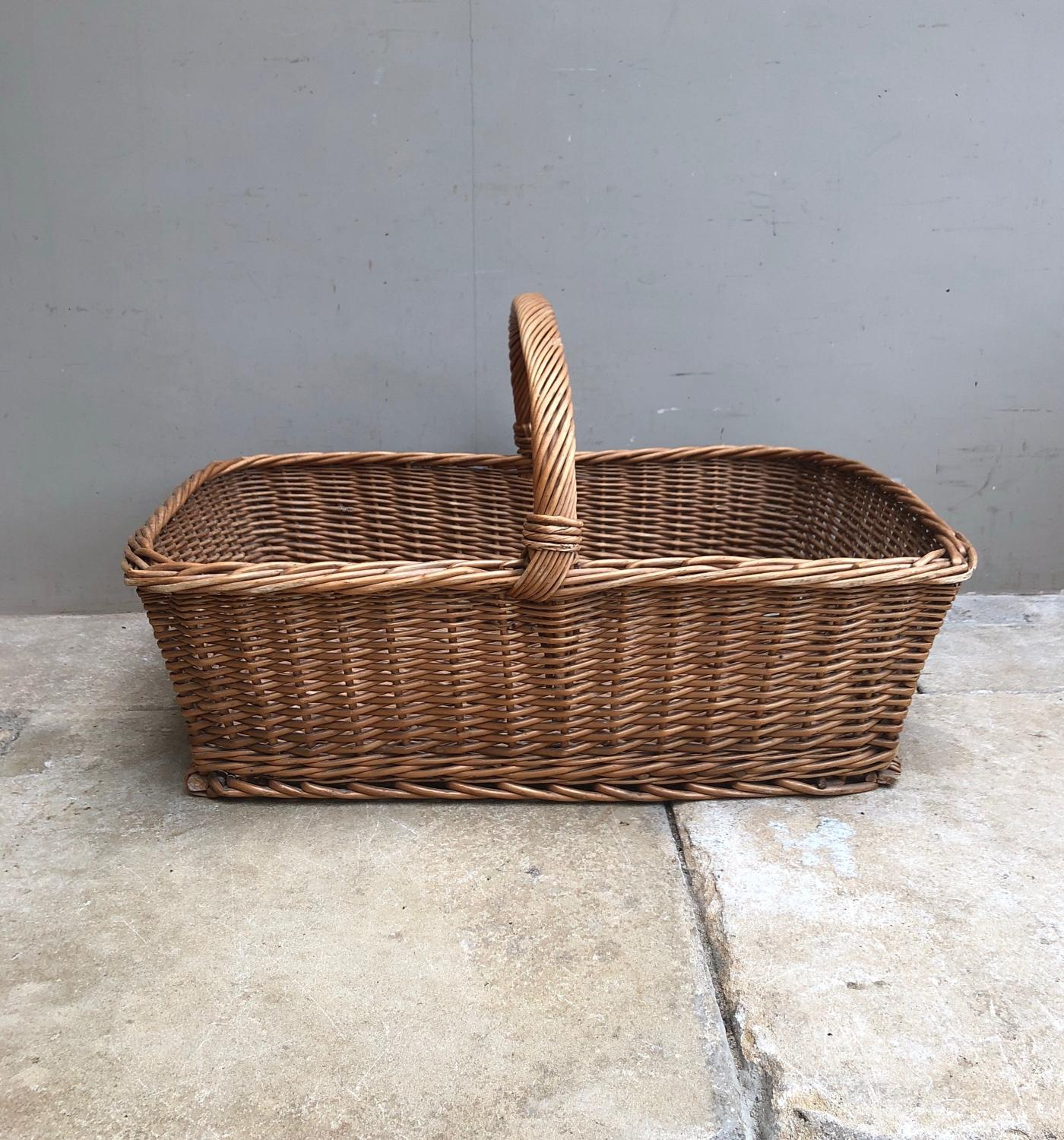 Huge Mid Century Bakers Basket in Excellent Condition