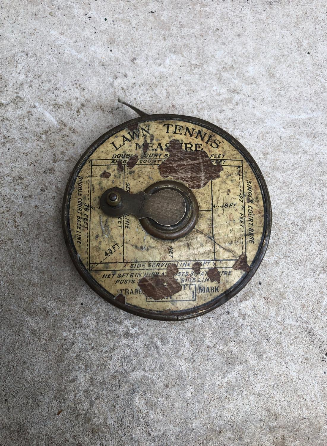 Rare Early 20th Century Lawn Tennis Tape Measure