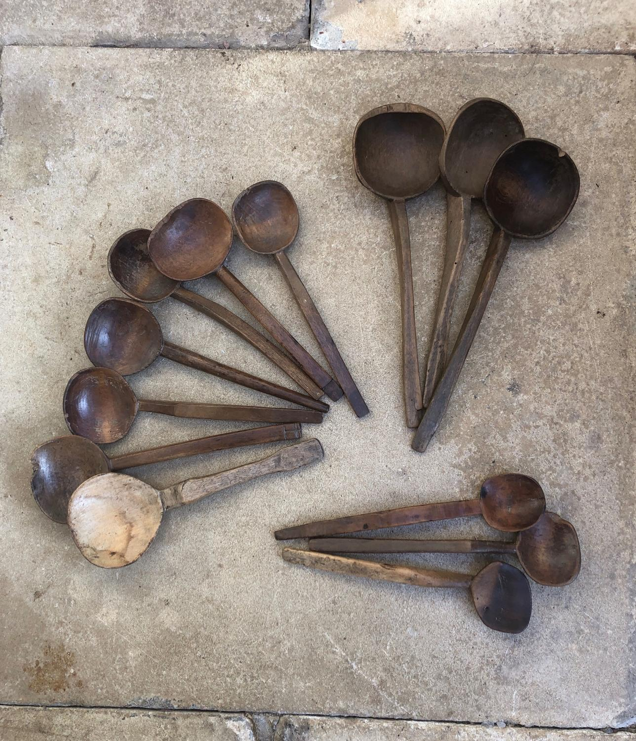 Selection of Victorian Cowl Spoons