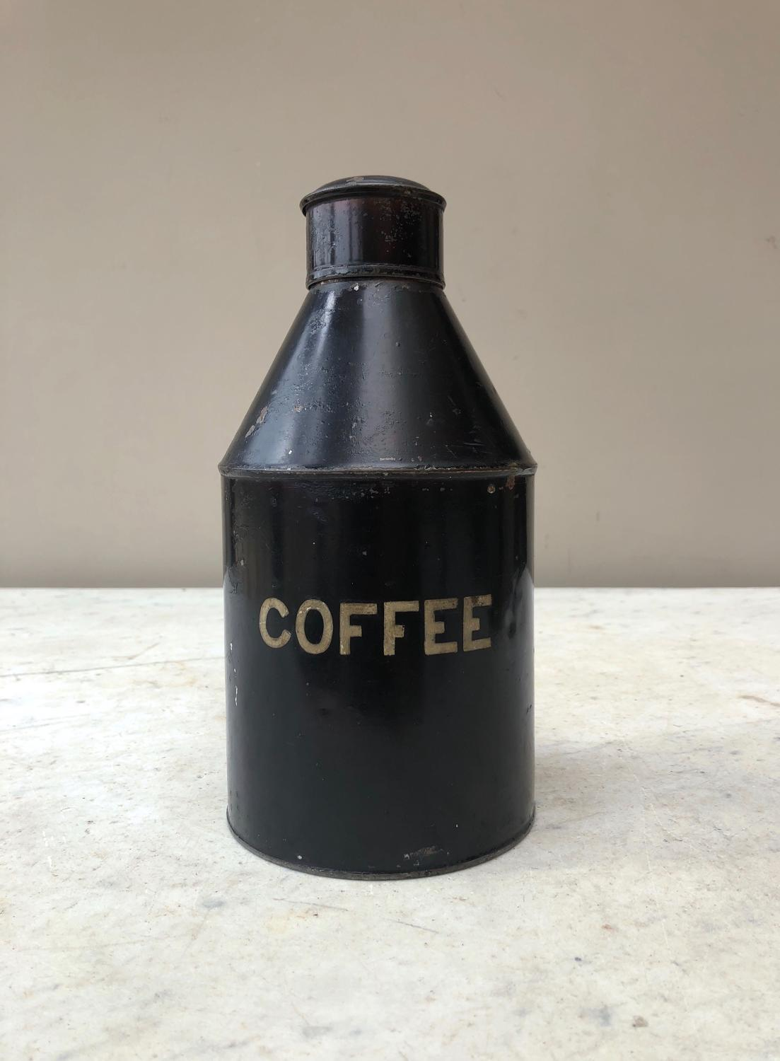 Victorian Toleware Coffee Cannister in Very Good Condition
