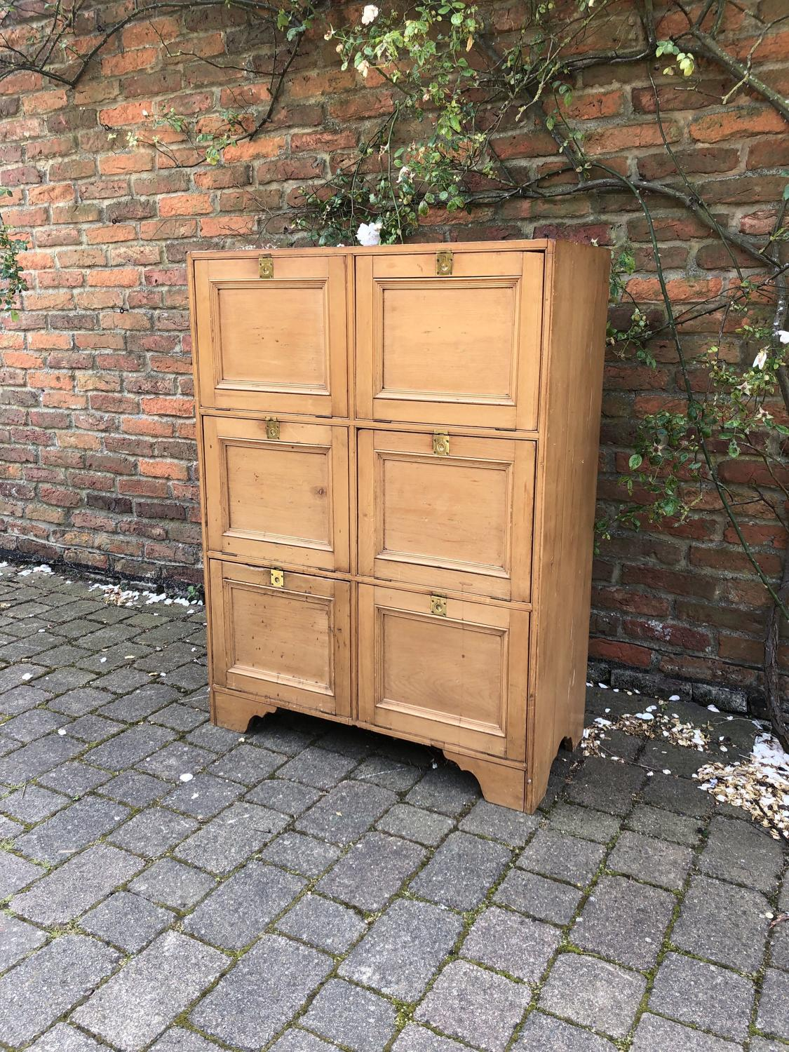 Early 20th Century Pine Locker Cupboard - Perfect for Shoe Storage