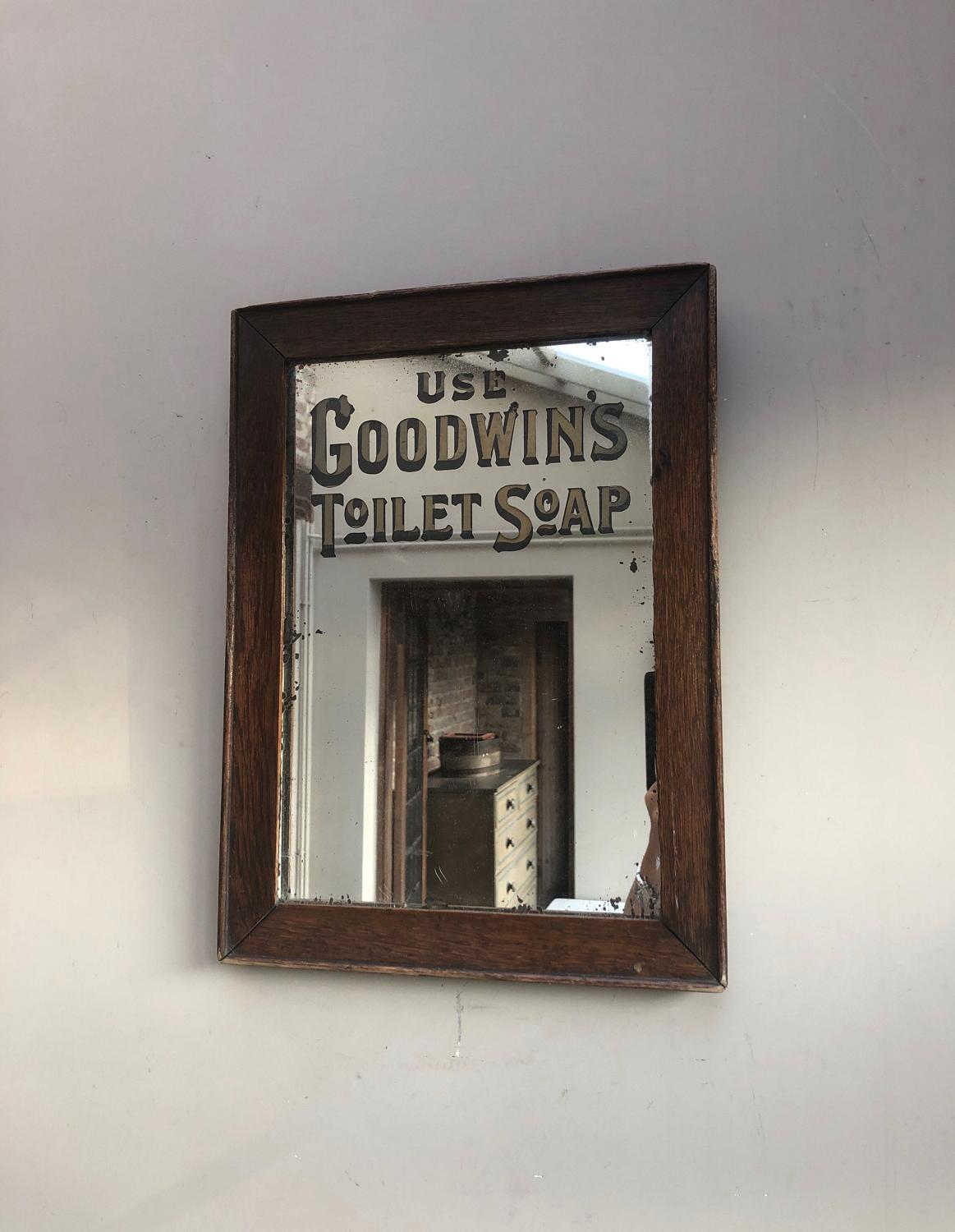Edwardian Shops Advertising Mirror - Use Goodwins Toilet Soap