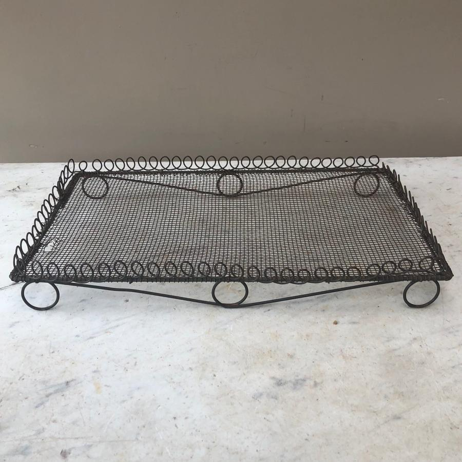 Late Victorian Wire Work Cake Cooling Rack with Loop Top Edging