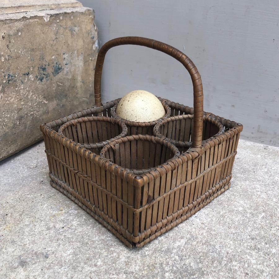 Small Edwardian Egg Basket in Wonderful Condition