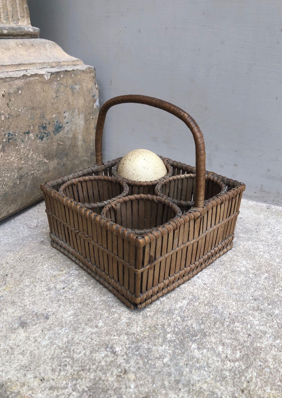 Small Edwardian Egg Basket in Wonderful Condition