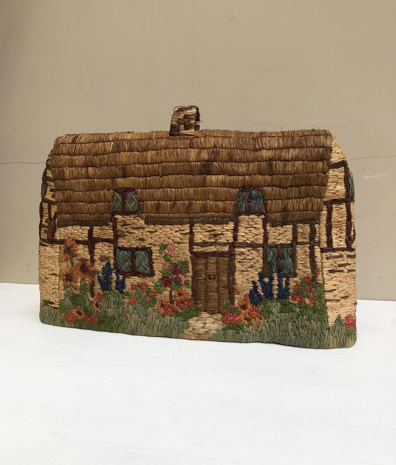 Early 20th Century Double Sided Cottage Tea Cosy