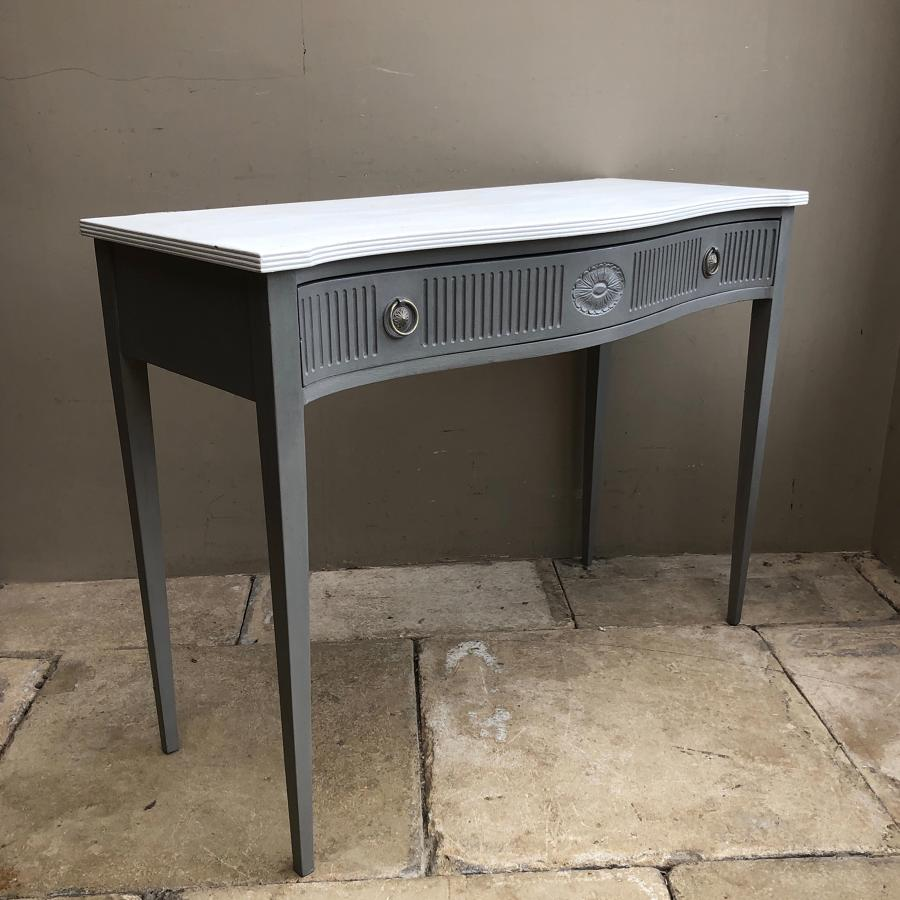 Mid Century Painted Side Table with Central Drawer