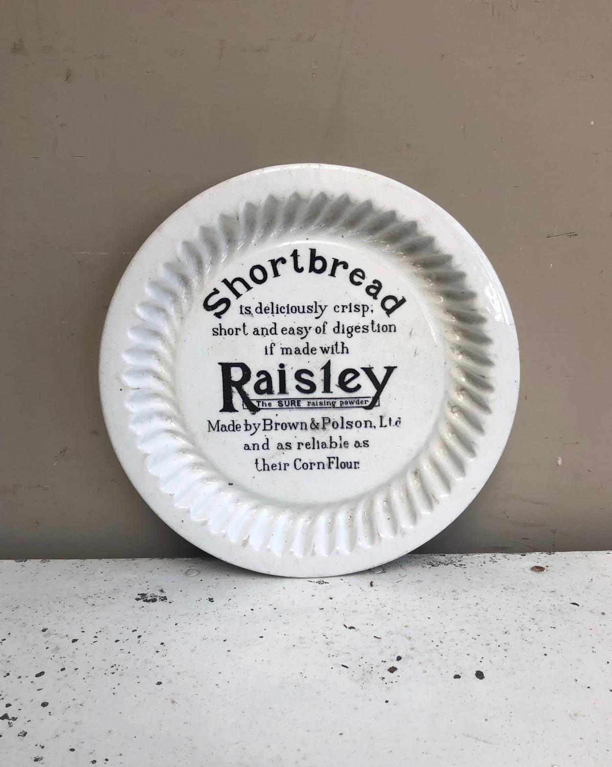 Early 20thC White Ironstone Brown Polsons Advertising Shortbread Mould