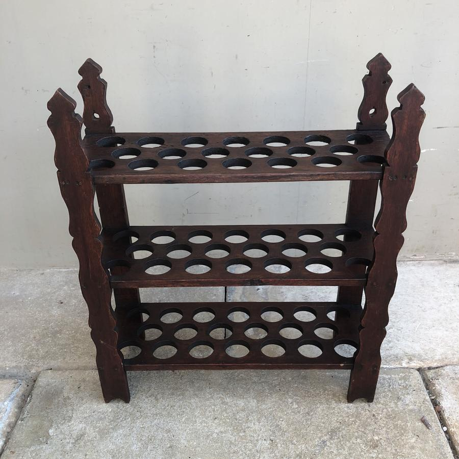 Late Victorian Wooden Three Tier Egg Rack - Holds 60 Eggs