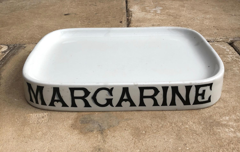 Early 20thC Grocer Shop's White Ironstone Margarine Slab-Parnall Stamp