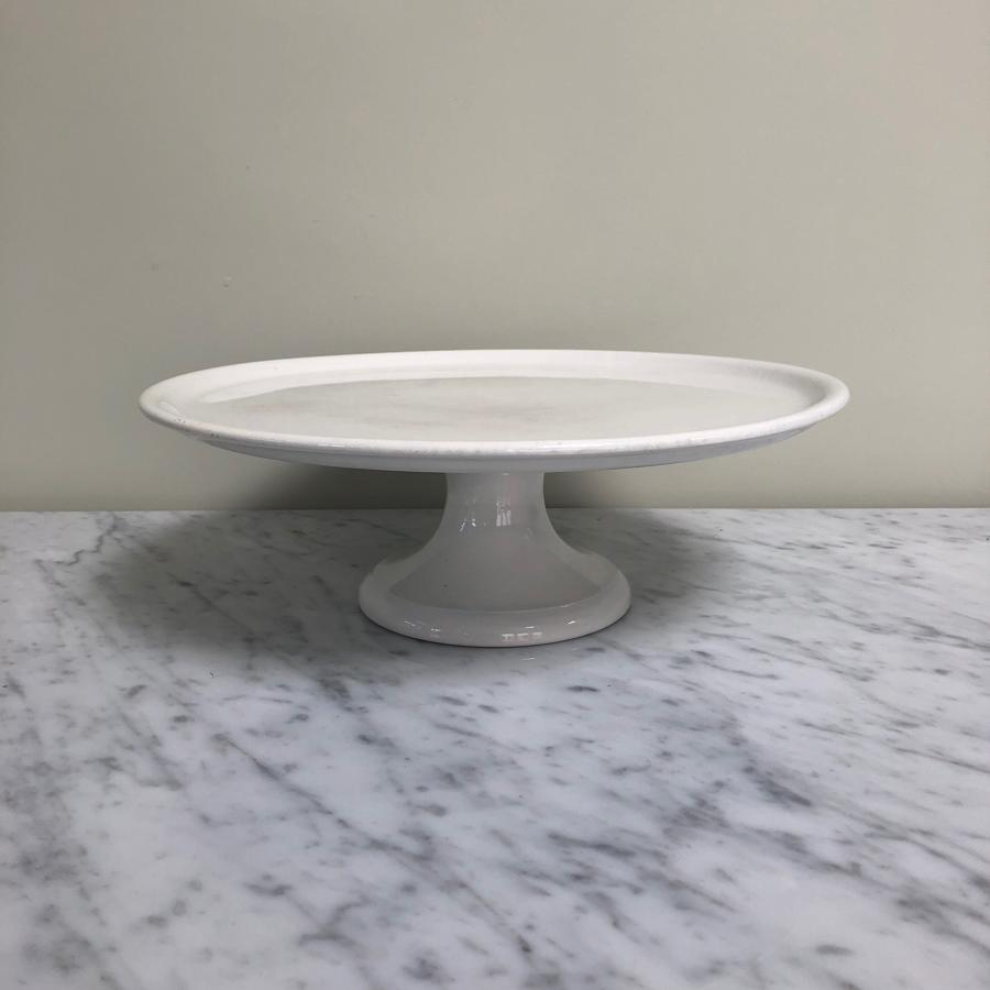 Early 20thC White Ironstone Cake Pedestal Display Stand