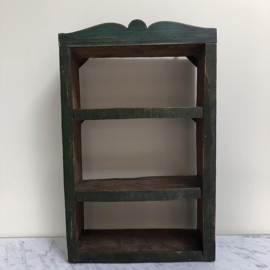 Georgian Primitive Wall Shelves in Original Paint.