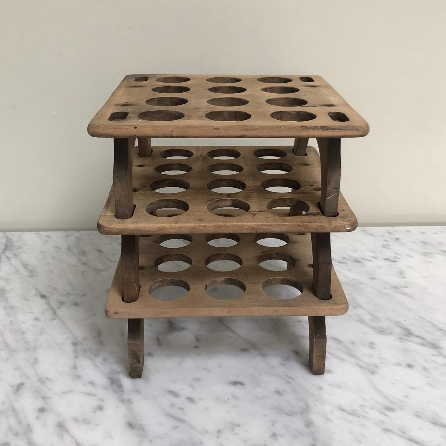 Late Victorian Three Tier Stacking Egg Rack - Individual Racks