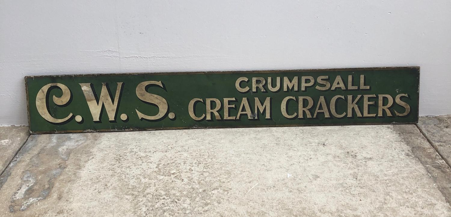 1930s Advertising Sign - Crumpsall Cream Crackers