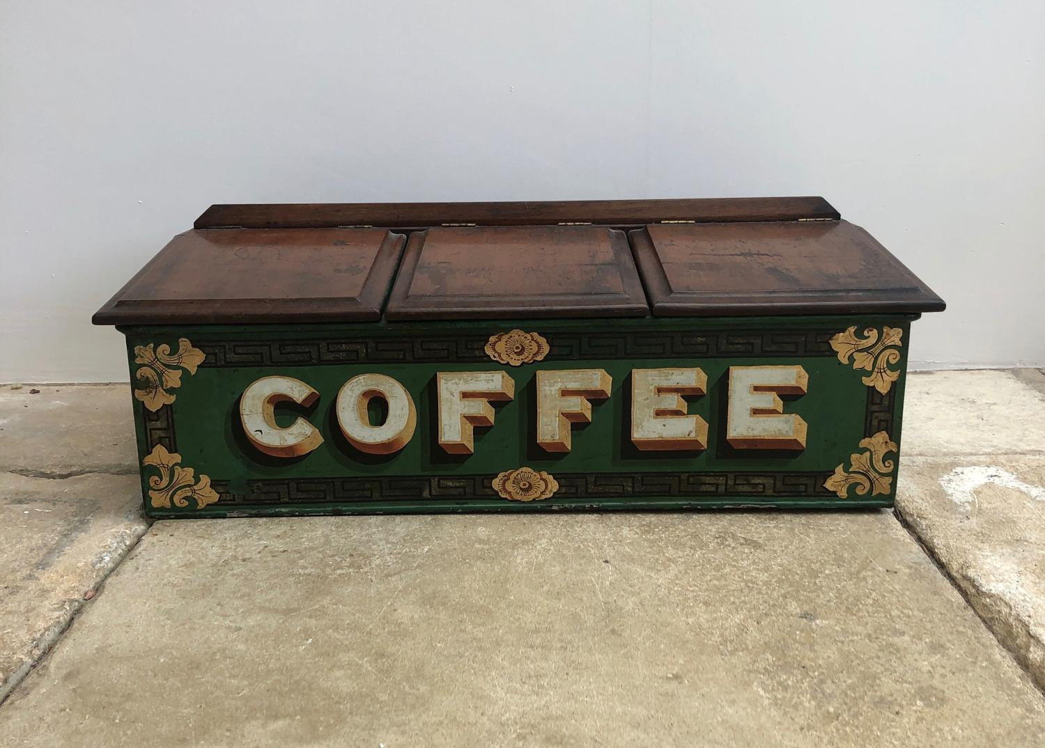 Exceptional Victorian Shops Toleware Coffee Cannister