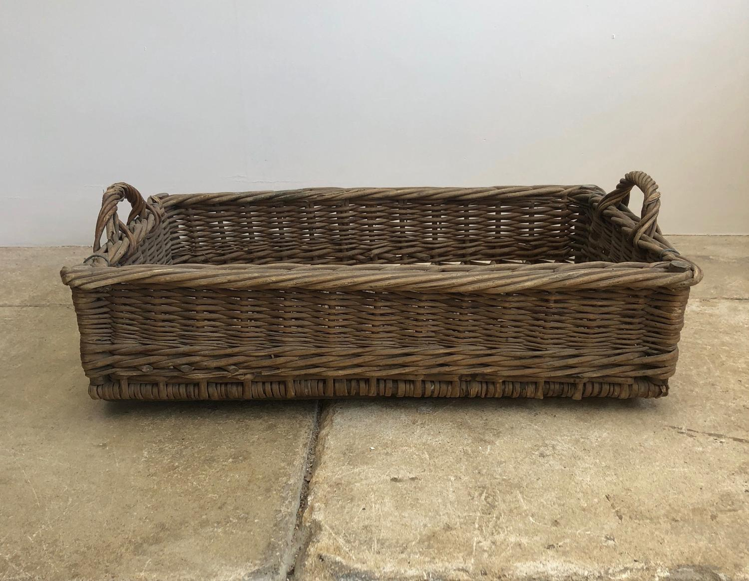 Edwardian Wire Bound Bakers Basket