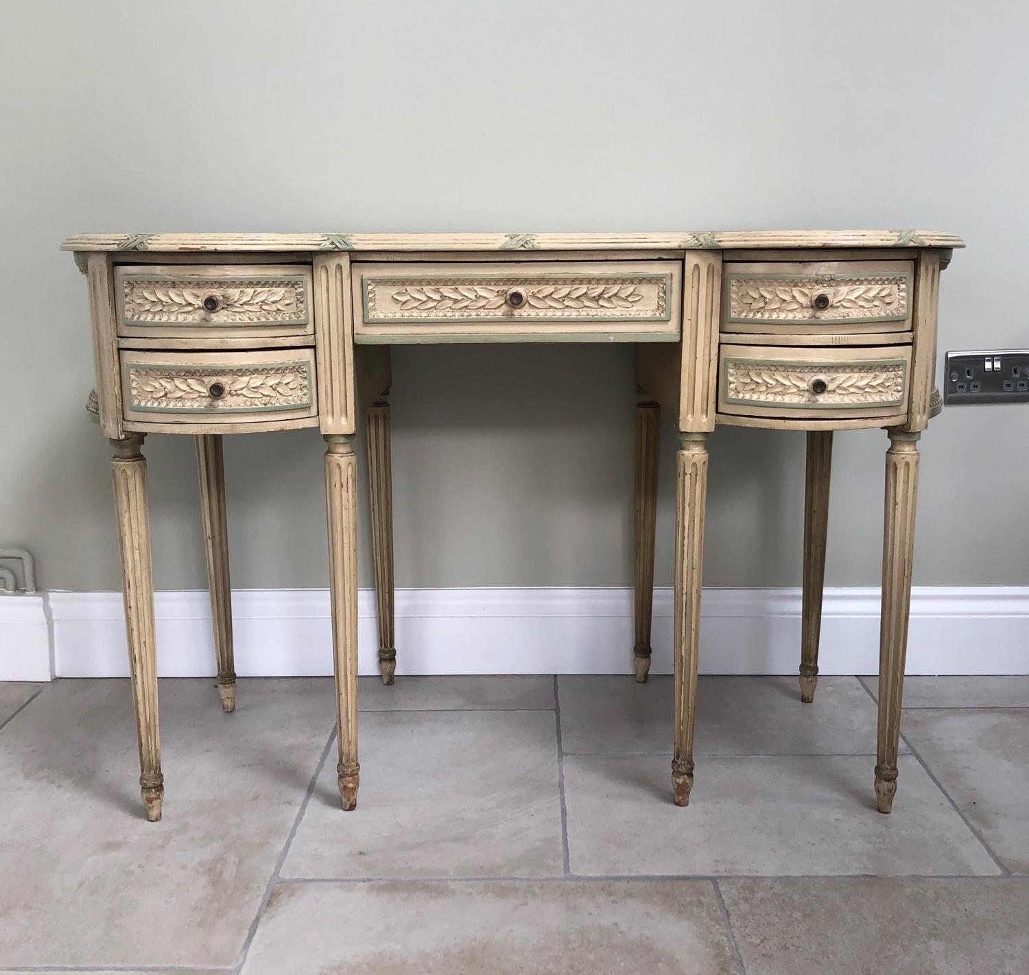 Early 20thC Side Table, Lady's Dressing Table in Original Paint