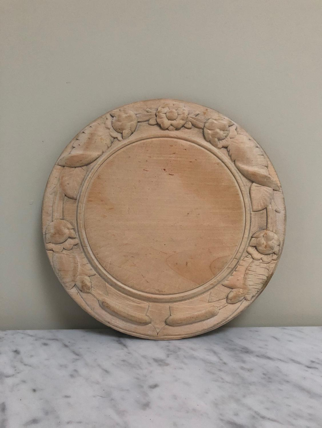 Victorian Deeply Carved Bread Board